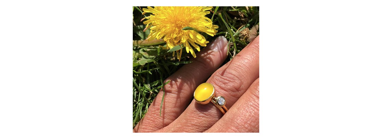 Sommer gul chalcedon